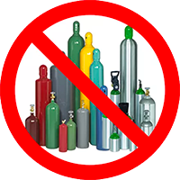 No ACETYLENE TANKS